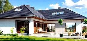 Смарт-стекла в проекте дома с террасой