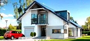 Стеклянные полы в проектах двухэтажных домов