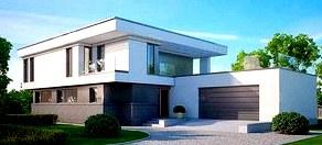 Зеркальные фасады в проекте домов и коттеджей