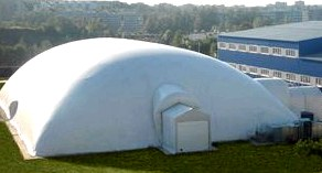 Воздухоопорные конструкции для экономного и быстрого сооружения строений