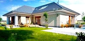 Дом углом - строительство дома оригинальной формы в Украине